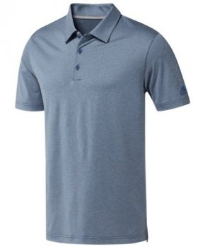 Adidas Ultimate365 Heather Polo Shirt - Marine Heather/True Blue