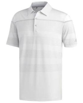 Adidas Ultimate365 Dash Stripe Polo Shirt - Crystal White/Grey