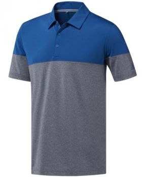 Adidas Ultimate365 Heather Blocked Polo Shirt - Collegiate Navy Melange/Dark Marine