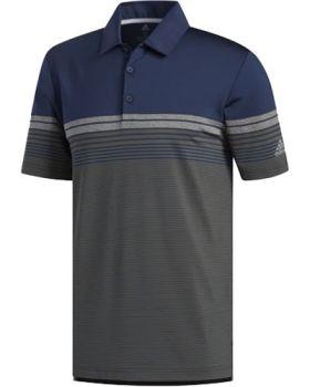 Adidas Ultimate365 Gradient Block Stripe Polo Shirt - Collegiate Navy