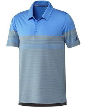 Adidas Ultimate365 Gradient Block Stripe Polo Shirt - Blue