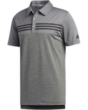 Adidas Heather Blocked Polo Shirt - Grey