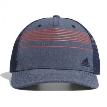 Adidas Striped Trucker Hat - Collegiate Navy Melange