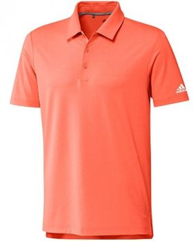 Adidas Ultimate 2.0 Heather Polo Shirt - Hi-Res Coral/White