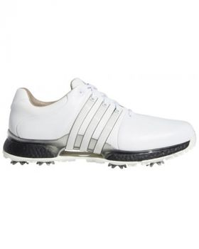 Adidas Tour 360 XT Golf Shoes - Cloud White/Core Black/Silver Metallic