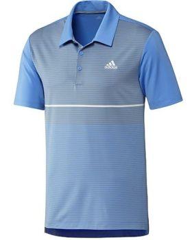 Adidas Ultimate Colorblock Stripe Polo Shirt - Real Blue