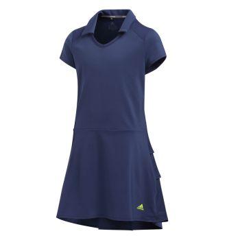 Adidas Girl's Ruffled Dress - Tech Indigo
