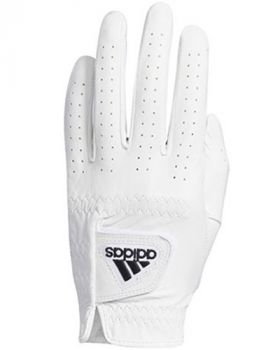 Adidas Leather Golf Gloves Left Hand (For the right handed golfer) - White/Black