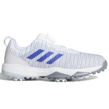 Adidas Junior Codechaos Boa Golf Shoes - Cloud White/Semi Night Flash/Halo Blue