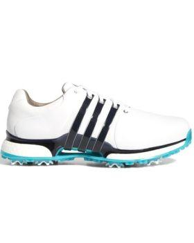 Adidas Tour 360 XT Wide Golf Shoes - Ftwr White / Legend Ink / Hi-res aqua