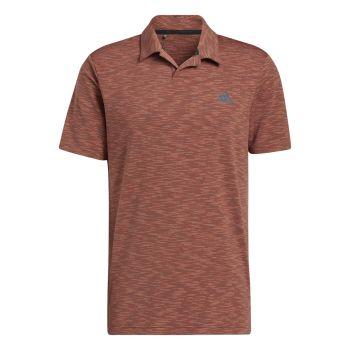 Adidas Men's Broken Stripe Polo Shirt - Wild Sepia / Acid Orange / Wild Teal