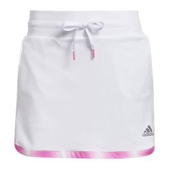 Adidas Women's Gradient 15-Inch Golf Skort - White/Screaming Pink
