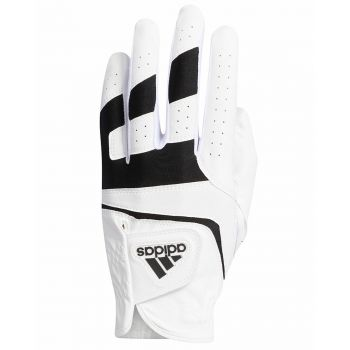 Adidas Aditech Leather Golf Gloves Left Hand (For the Right handed golfer) - White/Black