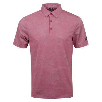 Adidas Men's Camo Polo Golf Shirt - Wild Pink/Grey