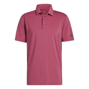 Adidas Men's Ultimate365 Printed Polo Shirt - Wild Pink/Crew Navy
