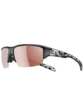 Adidas Kumacross Halfrim Sunglasses - Black Shiny/Alpine