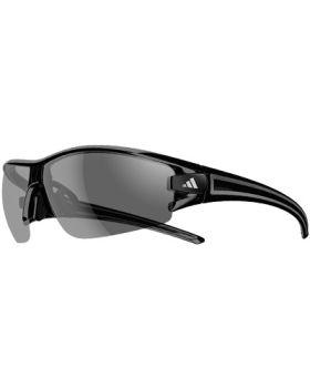 Adidas A402 Evil Eye Halfrim L Sunglasses - Black Frame/Black-Grey Lens