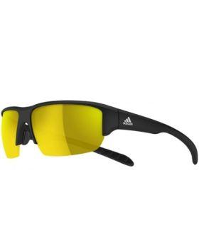 Adidas A421 Kumacross Halfrim Sunglasses - Black Matt/ Gold Mirror Lens