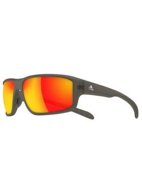 Adidas A424 Kumacross 2.0 Sunglasses - Umber Mat Frame/Grey-Red Lens