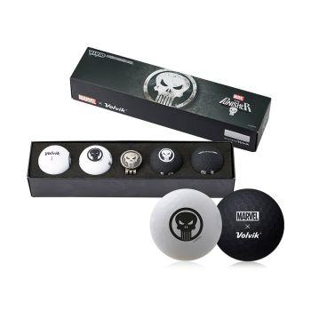 Volvik Vivid Golf Balls Marvel Gift Sets - Punisher