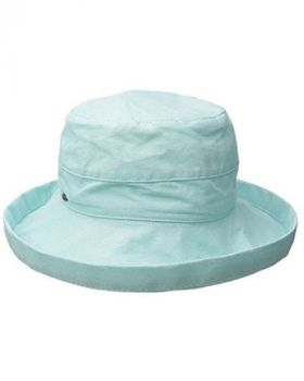 Scala Women's Medium Brim Cotton Hat - Aqua