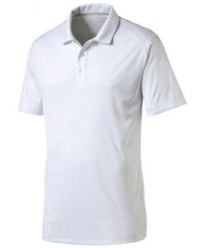Puma Essential Pounce Golf Polo Shirt Cresting - Bright White