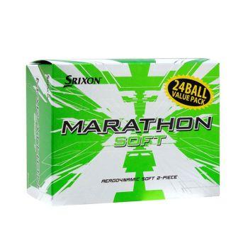 Srixon Men's Marathon Soft Feel Golf Balls - Soft White - 24 Pack