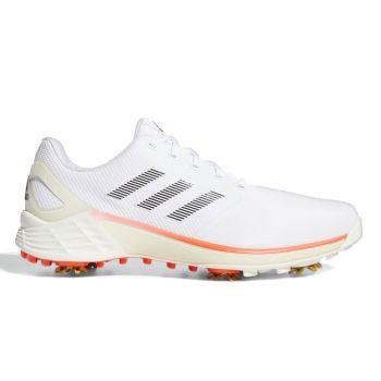 Adidas Men's  ZG21 Tokyo Golf Shoes - Cloud White/Core Black/Solar Red