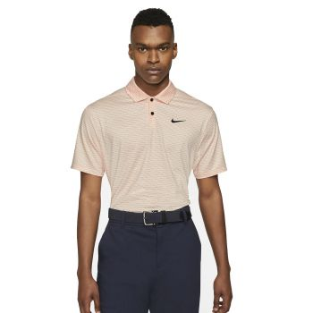 Nike Men's Dri-Fit Vapor Textured Golf Polo - Crimson Tint/Black