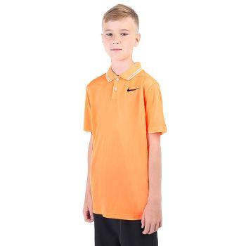 Nike Junior's Dri-Fit Victory Golf Polo - Peach Cream/Obsidian