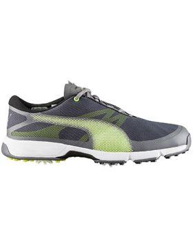 Puma Ignite Drive Sport Golf Shoes - Smoked Pearl/Yellow/ Puma Black