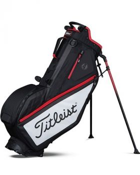 TITLEIST PLAYERS 4 STAND BAG - BLACK /WHITE/RED