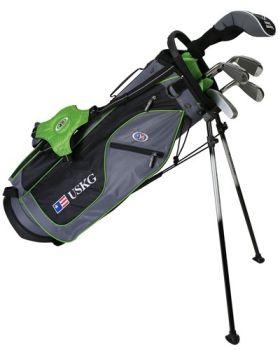 Us Kids Golf Ul57-U 5 Club All Graph Stand Set - Green