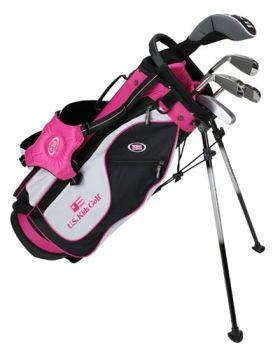 Us Kids Golf Ul51-U 5 Club  Stand Bag Set Left Hand - Pink