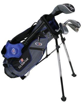 Us Kids Golf UL45-U 4 Club All Graph Stand Set - Blue
