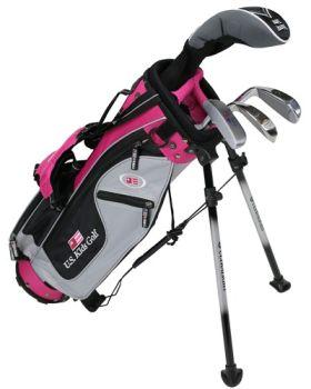 Us Kids Golf Ul42-U 4 Club All Graph Stand Set Left Hand - Pink