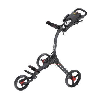 Bagboy Compact 3 Push Cart - Matte Black/Red