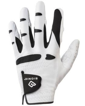 BIONIC LEFT HAND GLOVE (FOR THE RIGHT HANDED GOLFER) - WHITE/BLACK