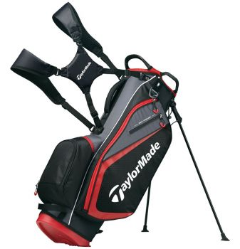 TaylorMade Select Stand Bag - Black / Red