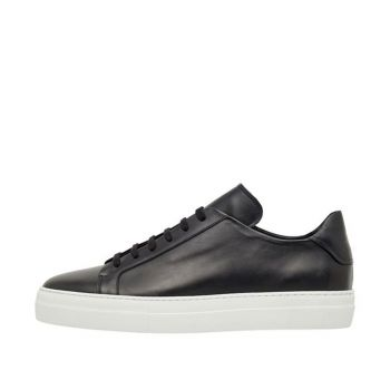 J.Lindeberg Men's Signature Leather Sneakers - Black - SS21