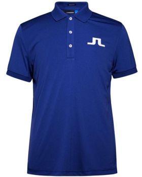 J. Lindeberg Big Bridge Reg TX Jersey Polo Shirt - Strong Blue