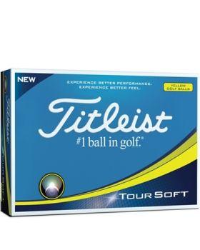 Titleist Tour Soft Golf Balls - Yellow