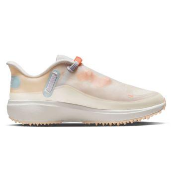 Nike Women's React Ace Tour Golf Shoes - Sail/White/Light Dew/Bright Mango