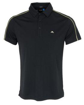 J. Lindeberg Glenn Reg TX Jersey Polo Shirt - Black
