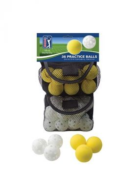 PGA TOUR 36 PRACTICE BALL IN MESH BAG