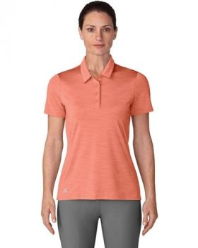 Adidas Women's Ultimate Short Sleeve Polo - Chalk Coral