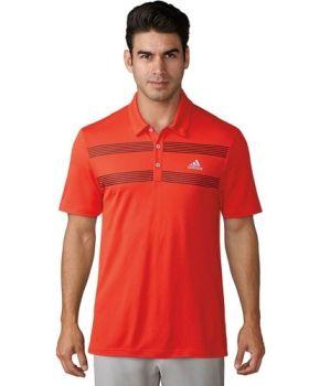 Adidas Advantage Colorblock Polo Shirt - Hi Res Red
