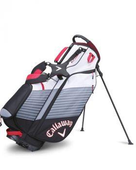 Callaway Chev Stand Bag - Black/White/Red