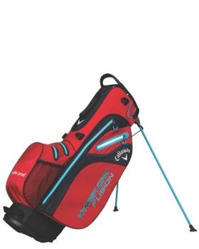 Callaway 2018 Hyper Dry Fusion Stand Bag - Red/Black/ Navy Blue