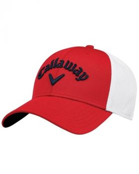 Callaway Mesh Fitted Golf Cap - Red/White